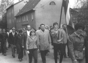 Josef Blahůt v čele naší výpravy, NDR 1978